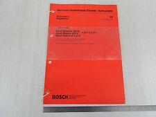 MANUALE RICERCA GUASTI '77 BOSCH INIEZIONE L-JETRONIC OPEL GT/E GTE KADETT MANTA