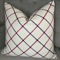 43cm square Cushion cover in Clarke /& Clarke Scotties Dog Pink Blue fabric 17/""