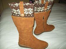 Sergio Todzi Camel Wedge Knit Boots Size UK 5