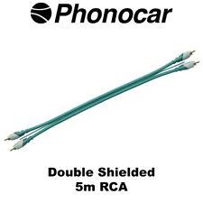 PHONOCAR 5 M Rca Doble Escudo Mono Amp Audio de alta calidad lleva COCHE AMP cableado