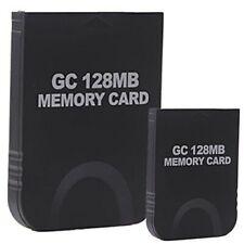GameCube Memory Card 128Mb 2048 Blocks Storage for Nintendo Wii & GameCube 2pk