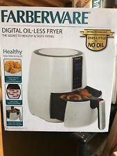 Farberware 3.2 Quart Digital Air Fryer, Oil-Less, White NEW OPEN BOX