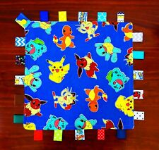 Pokemon - Taggie Taggy Tag Security Blanket Toy Comforter dummy clip holder