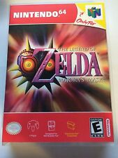 Zelda Majora's Mask - Nintendo 64 - Replacement Case - No Game