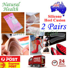 2 Pairs Gel Heel Liners Insole Cushion Pads Foot Care Feet Silicone Shields Soft