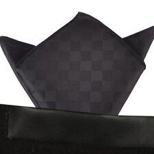 (T33) MenWithTie Black Color Men Formal Pocket Square Hankie Party Handkerchief