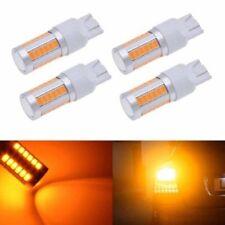 4X Amber T20 LED 7443 33SMD Strobe LED Bulb Car Brake Reverse DRL Fog Light Lamp