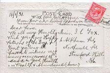 Genealogy Postcard - Family History - Fox - Stanford Hill - London  195A