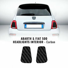 Adesivi Interno Fari Abarth e Fiat 500 Carbonio