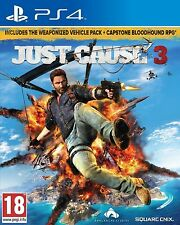 BRAND NEW SEALED JUST CAUSE 3 PS4 PLAYSTATION 4 GAME WITH 2 BONUS DLCS
