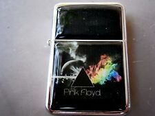 PINK FLOYD STAR LIGHTER DARKER SIDE OF THE MOON & EXTRA ZIPPO FLINTS