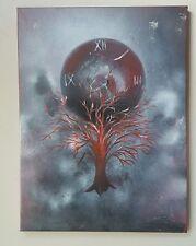 Time's Fury,  Acrylic, Surrealism, original, signed, fantasy