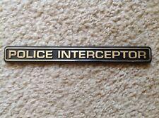 NEW DODGE & CHEVROLET POLICE INTERCEPTOR EMBLEM - CAMARO B4C CHARGER CAPRICE 9C1
