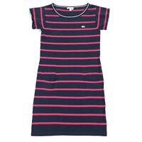 Lacoste Women's Striped Summer Full Length Dress Pink Blue • Size 34