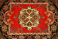 Circa 1930's ANTIQUE SILK ACCENTS_KORK WOOL_HIGH KPSI PERSIAN KASHAN RUG 2.3x3.3