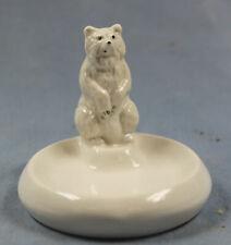 eisbär figur mit schale ens porzellanfigur porzellan polar bear