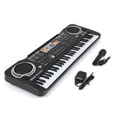 Electric Piano Organ 61 Key Digital Music Electronic Keyboard Kids w/Microphone
