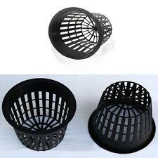 1Pc Black Heavy Duty Mesh Pot Net Cup Basket Hydroponic Aeroponic Plant Grow Acc