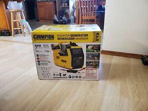 Champion Portable Gas Inverter Generator, 2000-Watt, Ultralight, Quiet,