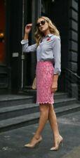 NWT Diane von Furstenberg DVF Lace Pencil Skirt Tulip Pink Size 8 $268