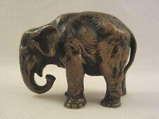 ELEFANT ELEPHANT BRONZE FIGUR MASSIV STATUE SKULPTUR ANTIK ALT JUGENDSTIL ~1900