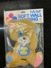 "VTG NOS Dolly Brand Plush Teddy Bear Nursery Wall Hanging Plush ""PEEK A BEAR"""