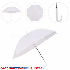New White Color Large Clear Dome Scrub Transparent Parasol Sun/Rain Umbrella !!!