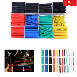 2:1 530Pcs Heat Shrink Tubing Sleeving Car Electrical Assorted Wrap Cable Wire