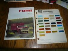 1974 Ford F Series Sales Brochure with Rinshed-Mason R-M Paint Samples Chips