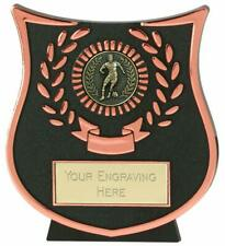 Emblems-Gifts Curve Bronze Male Footballer Plaque Trophy With Free Engraving
