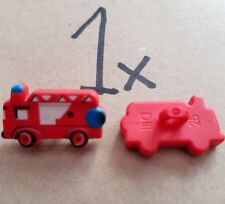 Novelty Button - Size: 23mm - Colour: Red Fire Engine