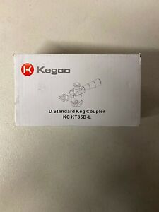 Kegco KC KT85D-L Keg Coupler D System 1 Black