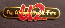 U2 The Unforgettable Fire Concert Tour Badge Button 1984