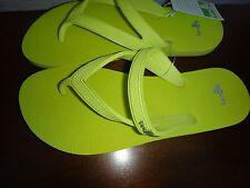 1785b447a2893 SANUK Selene Women s Flip-Flops Flat T-Strap Sandals Yellowish Green US  Size 6
