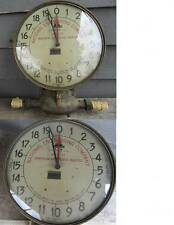 1920's TRIDENT BRASS FLOW METER w/SIMPSON LARGE DIAL GLASS FACE - gas / water  ?