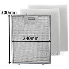 UNIVERSAL Cooker Hood Metal Mesh + Extractor Vent Fan Foam Filter 300 x 240 mm