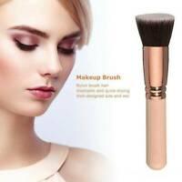 Foundation Makeup Brush Flat Top For Face Blending Liquid Concealer Cream Powder