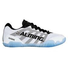 UK 8 Salming Mens Hawk White / Black Indoor Court Squash Badminton Trainers