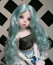 "Doll Wig, Monique Gold ""Ginger"" Size 5/6 in Light Blue"
