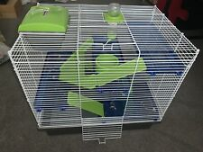 rosewood hamster/mice Small Animal cage + accessories Green 3 Levels 36x48x44 cm
