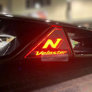 Auxiliary Rear Brake LED Light Mask Carbon Black for HYUNDAI 2019-2020 Veloster