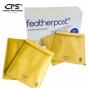 CPS Genuine Featherpost Gold Bubble Padded Shipping Bags - All Size -Pack of 25