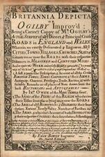 'Britannia Depicta or Ogilby Improv'd' by J. OWEN & E. BOWEN. Title page 1753