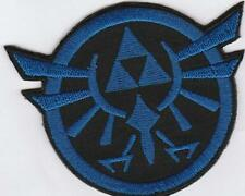1 x Blue Winged Zelda Triforce Game Logo Embroidered Sew On Patch