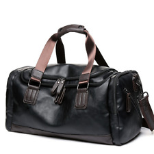 New Men's Large Leather Handbag Travel Gym Bag Weekend Overnight Duffle Bag