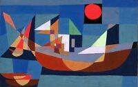 PAUL KLEE BOATS AT REST ABSTRACT ART GICLEE PRINT FINE CANVAS