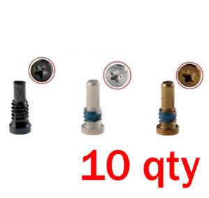 10 Qty lot Pentalobe Bottom Dock Repair Screws For iPhone 8 / 8 Plus