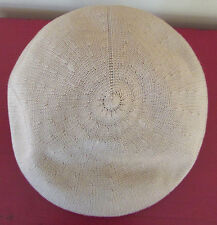 Dorfman Pacific Tan Woven Newsboy Cap Cabbie Driving Hat Small Medium S/M
