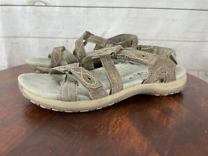Earth Origins Westfield Waverly Women's Suede Sandal Shoes Strappy Size 8M