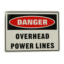 3x Warning Danger Overhead Power Lines Sign 225x300mm Metal Electric Safe Notice